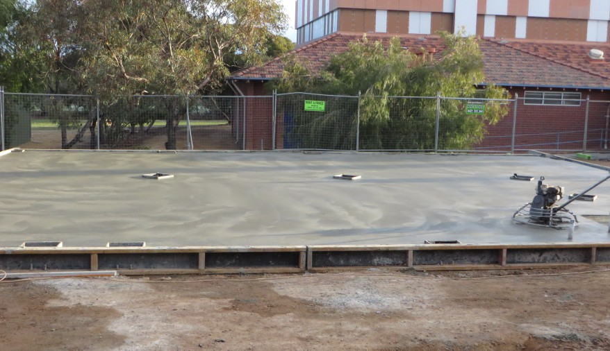 Concrete slab 11 June 2015