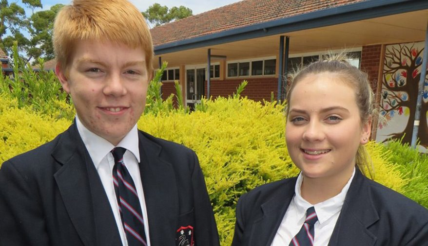 2017 Head Boy Jayden Severin and Head Girl Makaela Knapp