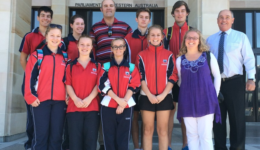 2015 ATAR Camp Students at Parliament House with MLA Tuck Waldron