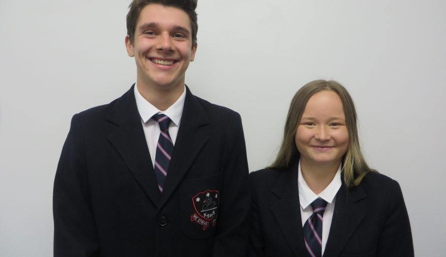 2019 School Captains - Geordie Smithies and Charlotte Why
