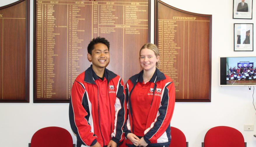 2021 School Captains - Arafie Taylor & Ashlea Tester